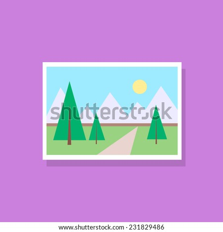 gallery picture flat design icon vector illustration