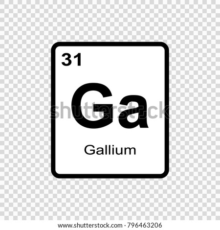 Copper chemical element sign atomic number stock vector 796355182 gallium chemical element sign with atomic number chemical element of periodic table urtaz Image collections