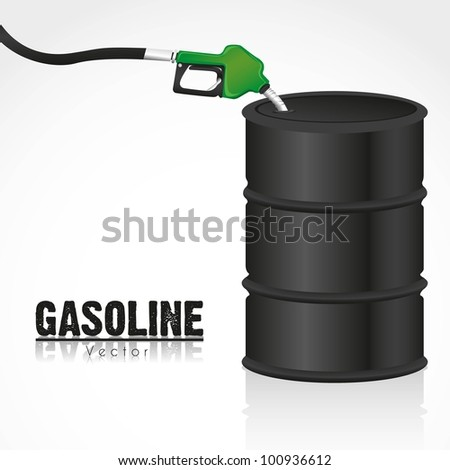 gallon of fuel with gasoline dispenser vector illustration - stock vector