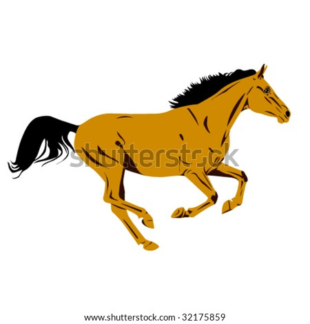 galloping arab horse vector