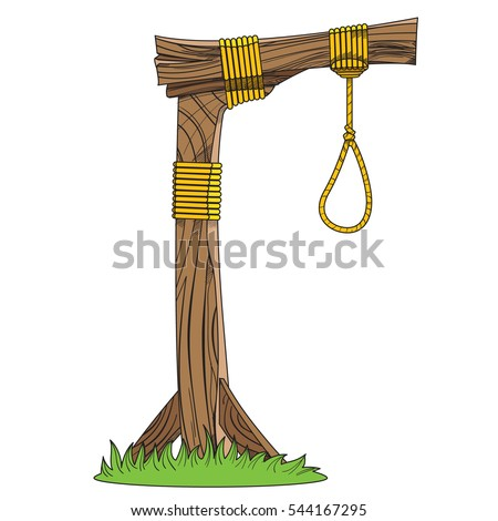 Gallows Sketch Device Hanging Objects Medieval Stock Vector ...