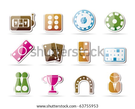 gambling and casino Icons - vector icon set - stock vector