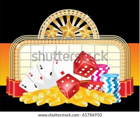 Gambling sign - stock vector