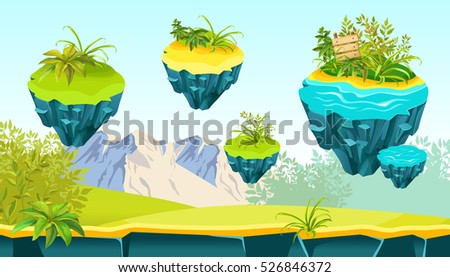 Game background. Vector illustration for web games, print, magazine, book.
