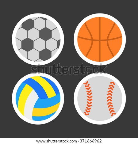 Game balls vector illustrations for stickers