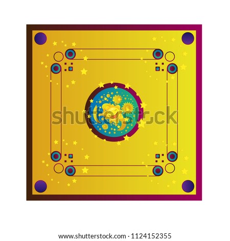 game board, various family game vector.   Various game, carrom board family game vector.