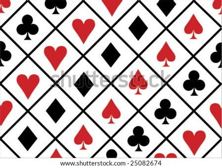 game cards icons background - stock vector