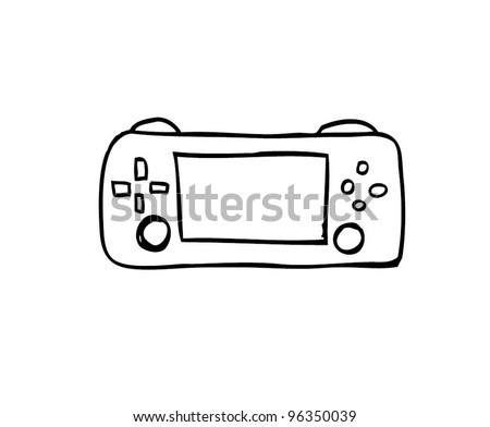 game console , gadget cartoon doodle, vector illustration - stock vector