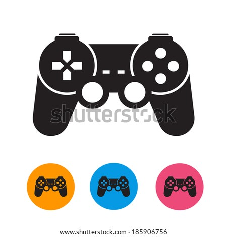 Game console. Vector format - stock vector