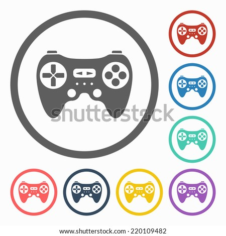 game controller icon - stock vector
