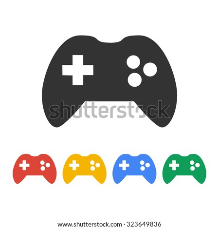 Game controller icon. Flat design style eps 10 - stock vector