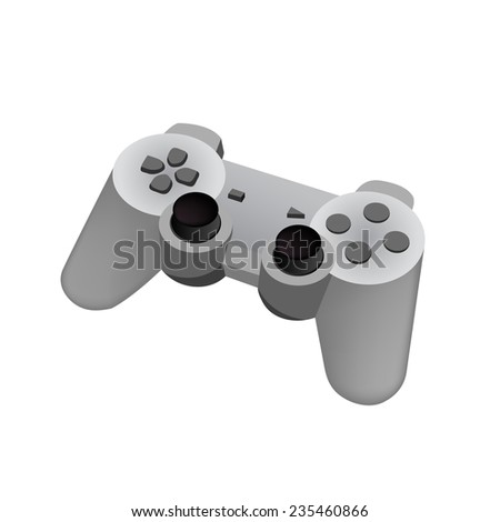game controller on a white background. Vector. - stock vector