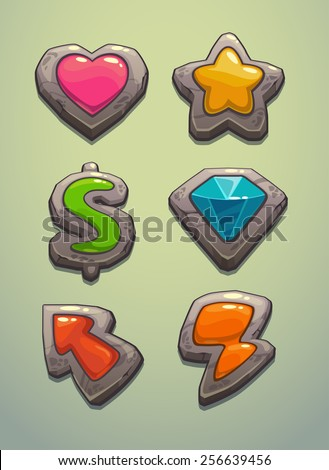 Game elements - stock vector