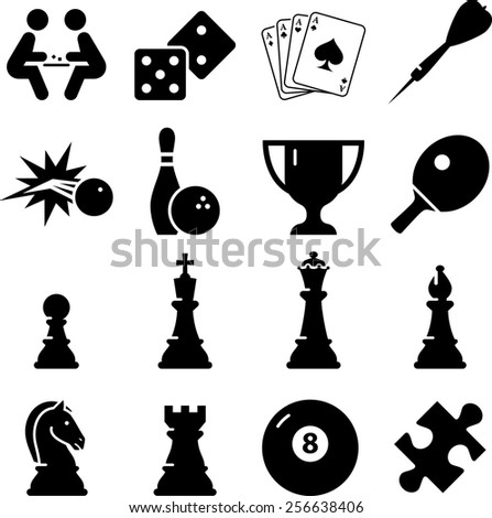 Game icon set. Vector icons for digital and print projects. - stock vector