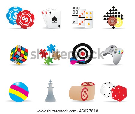 Game icons. Vector illustration - stock vector