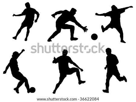 Game in football. vector illustration - stock vector