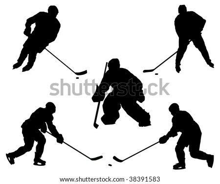 Game in ice hockey.  vector - stock vector