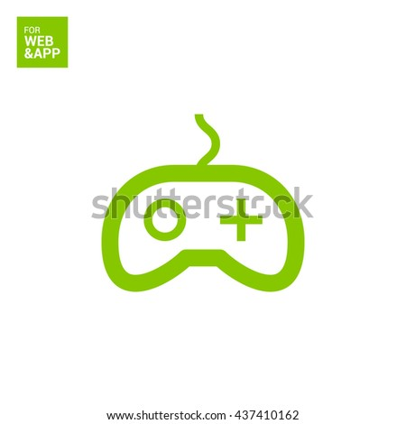 Game isolated minimal single flat linear icon for application and info-graphic. Controller line vector icon for websites and mobile minimalistic flat design. - stock vector