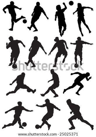 Game of football with ball - stock vector