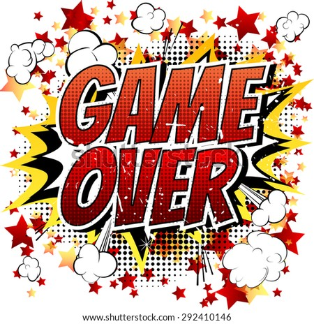 game over comic book  cartoon expression isolated on Panther Claw Clip Art Panther Claw Clip Art