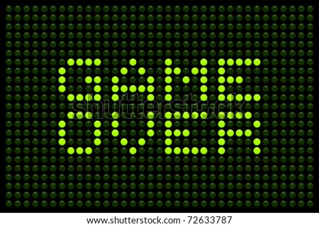 Game Over LED Matrix - stock vector