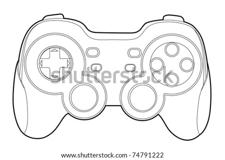 game-pad - stock vector