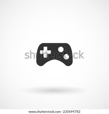 Game pad, joystick, computer games icon. Modern minimalist mobile app ui flat simple icon.  - stock vector