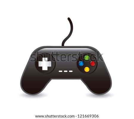 game pad over white background. vector illustration - stock vector