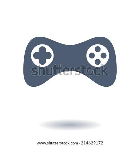 Gamepad icon. Vector. Flat design style - stock vector