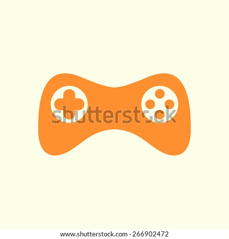 Gamepad icon. Vector. Flat design style - stock vector