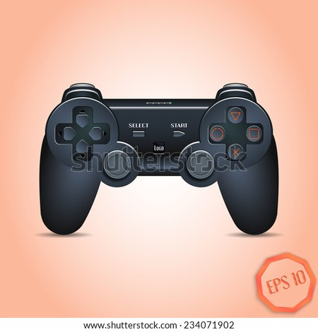 Gamepad Joystick. Joystick game console. Realistic image. Made in vector illustration - stock vector