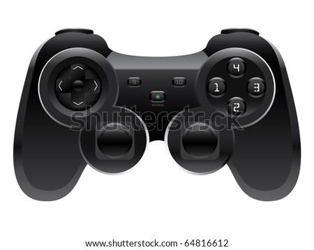 Gamepad Joystick vector - stock vector