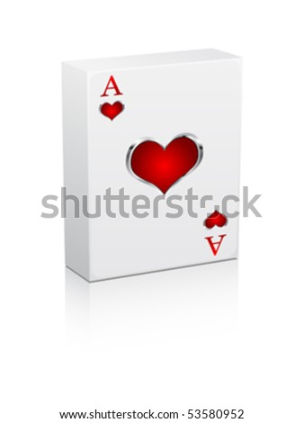 games card ace - stock vector