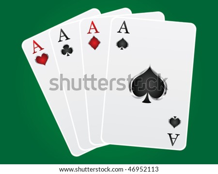 games card aces - stock vector