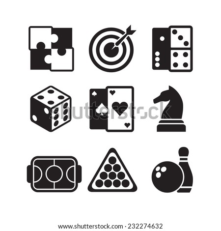 games icons set - stock vector