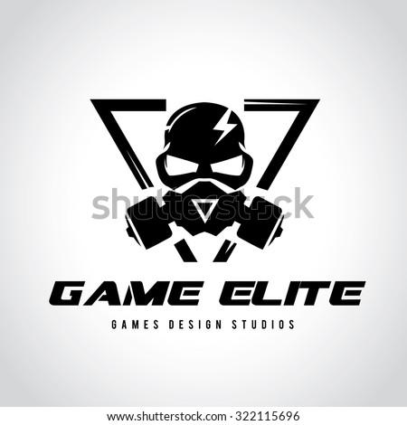Games logo,Vector logo template - stock vector