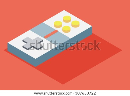Gaming isometric vector 