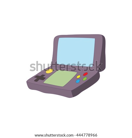 Gaming keyboard for tablet icon in cartoon style isolated on white background. Games and consoles symbol - stock vector