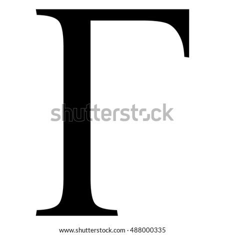Gamma Greek Letter Uppercase Gamma Symbol Stock Vector Royalty Free