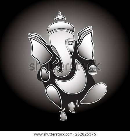 Ganesha hindu God. Eps 10 - stock vector