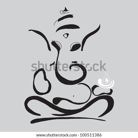 Ganesha symbol illustration - stock vector