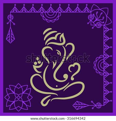 Ganesha The Lord Of Wisdom Vector Art - stock vector