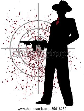 gangster - stock vector