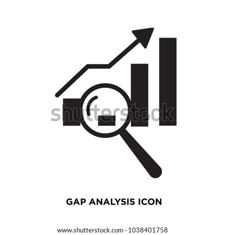 Gap Analysis Icon Isolated On White Stock Vector