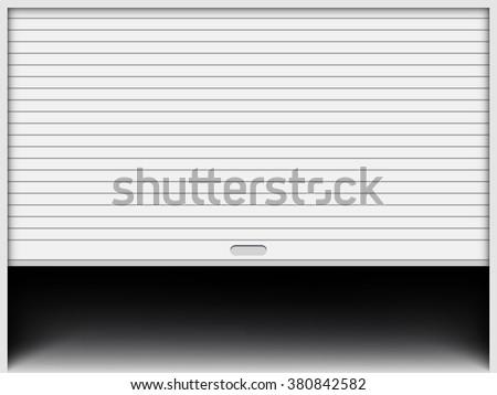 Garage door - stock vector