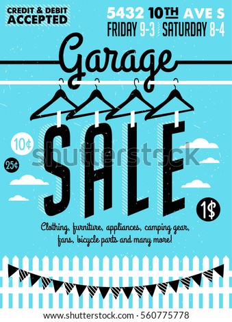 garage sale sign printable