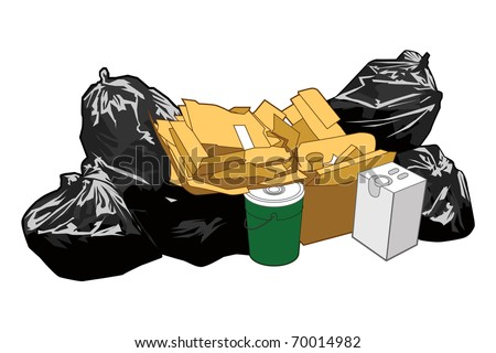 Garbage - stock vector
