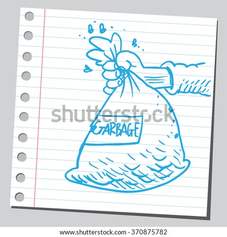 Garbage bag  - stock vector