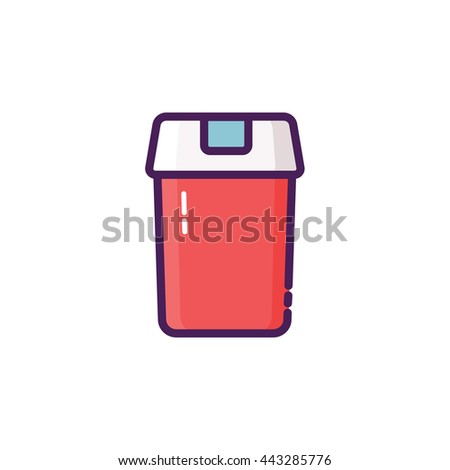 Garbage Bin Icon Illustration