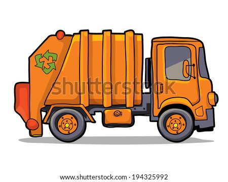 garbage track - stock vector